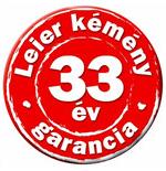 33 év Leier garancia