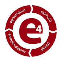 E4 ház logó