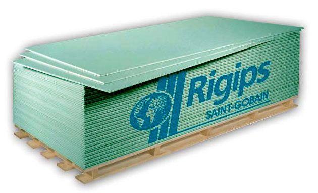 Rigips impregnált gipszkarton RBI