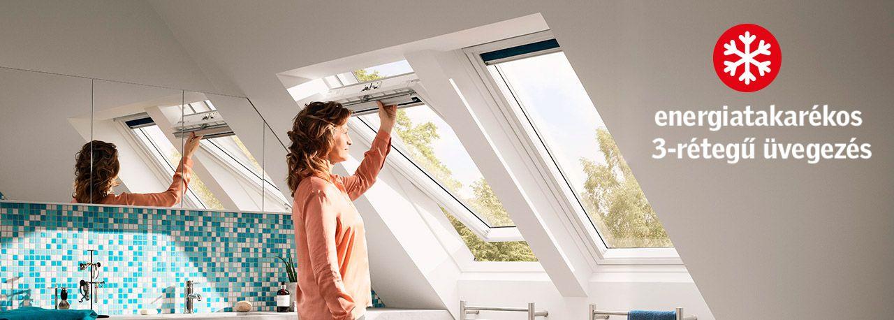 VELUX Standard Plus - billenő tetőtéri ablak GLU