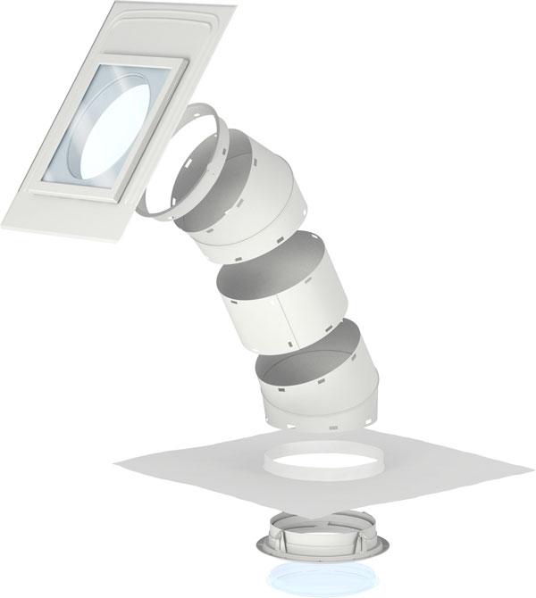 VELUX fénycsatorna magastetőkhöz max. 8 mm vastag sík tetőfedő anyaghoz – TLR