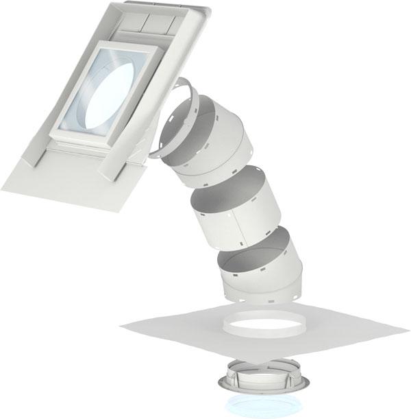 VELUX fénycsatorna magastetőkhöz max. 120 mm magas profilos tetőfedő anyaghoz – TWR