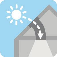 VELUX flexibilis csöves fénycsatorna magastetőkhöz